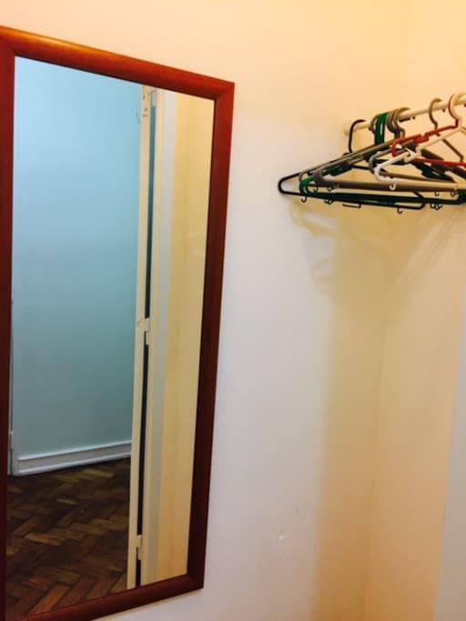 Your closet has a mirror.
