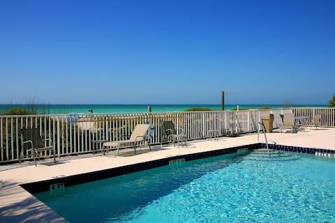 The Beach condo #107,  PRIVATE BEACH OPEN