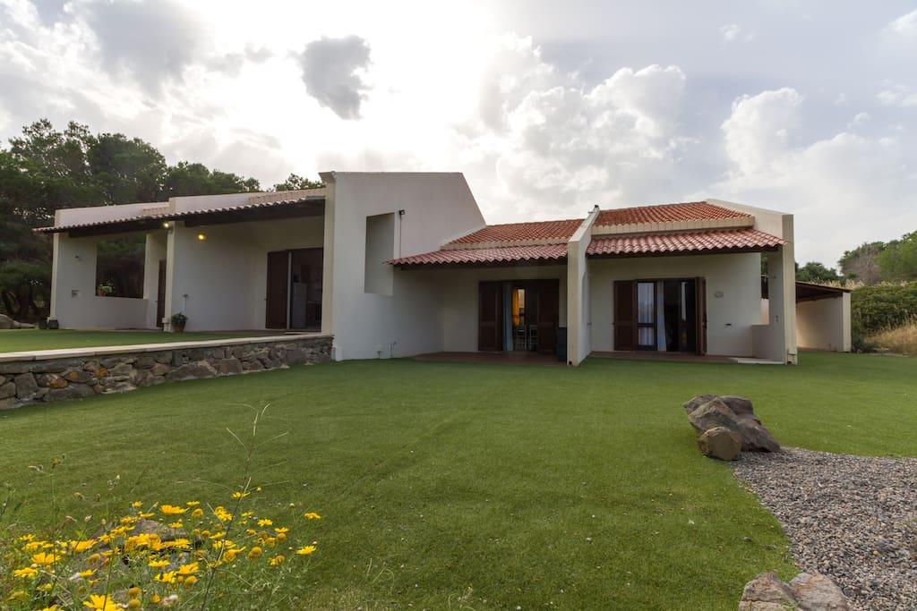 """Vista Facciata del Complesso Residenziale """"Le Pavoncelle - Peonia Rosa - Sant'Antioco"""""""