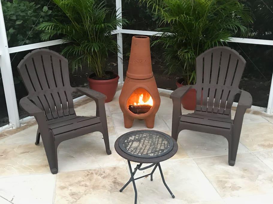 Enjoy an evening by the fire