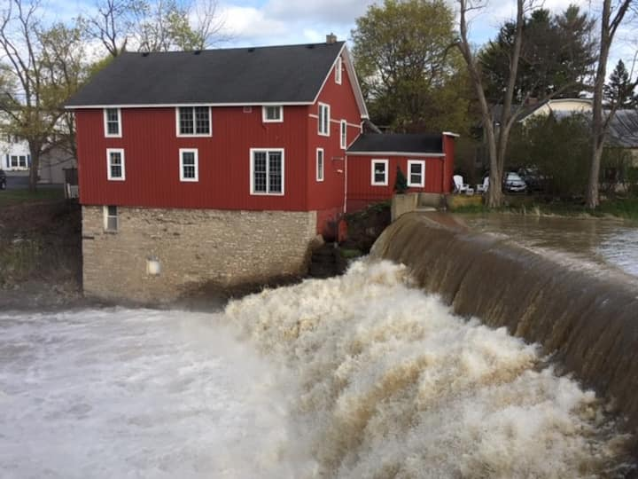 The Red Saw Mill of Honeoye Falls