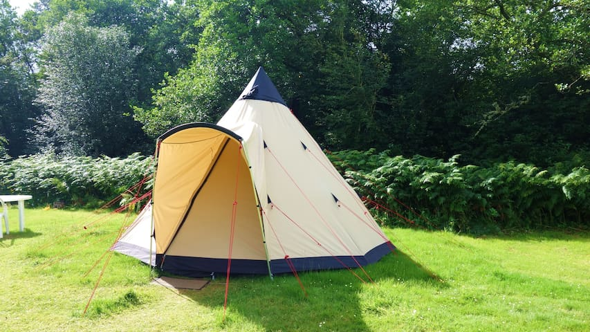 Tipi Tent 1 with River Access
