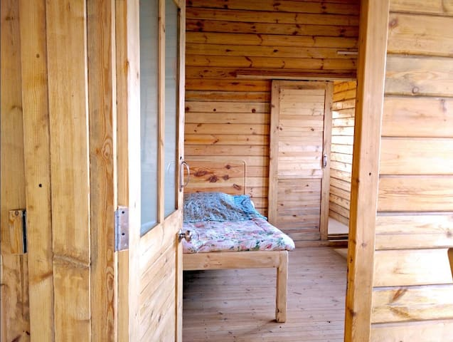 Wooden Bedrooms give sound sleep...  cool in summer and warm in winter.  Wake up feeling recharged + refreshed. Guaranteed long sleep.  Last time a teenager slept on this bed and woke up as a man.