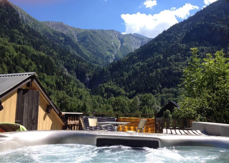 Hot tub on SunTerrace - Views over Ecrins National Park