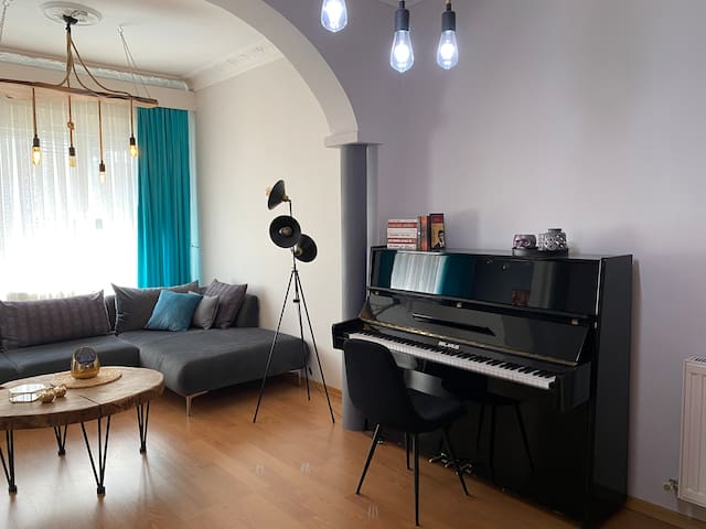 You can start the day beautifully by playing the piano.  The perfect match of colors and material