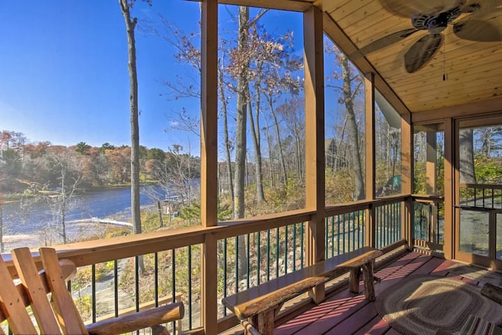 NEW! Secluded Waterfront Cabin w/ Dock and Views!