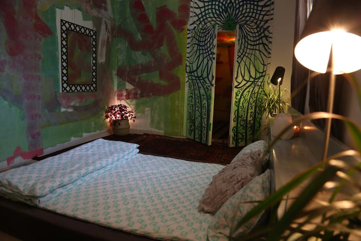 Green Dream Room @House_of_Dreaming in Weibdeh