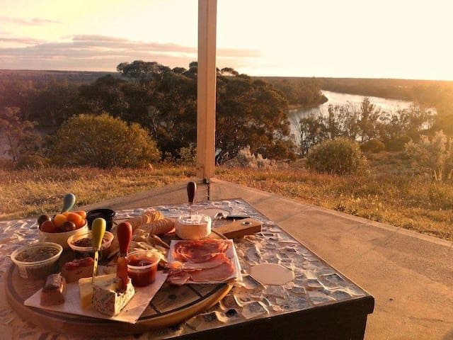 Perfect spot for breakfast for evening drinks.