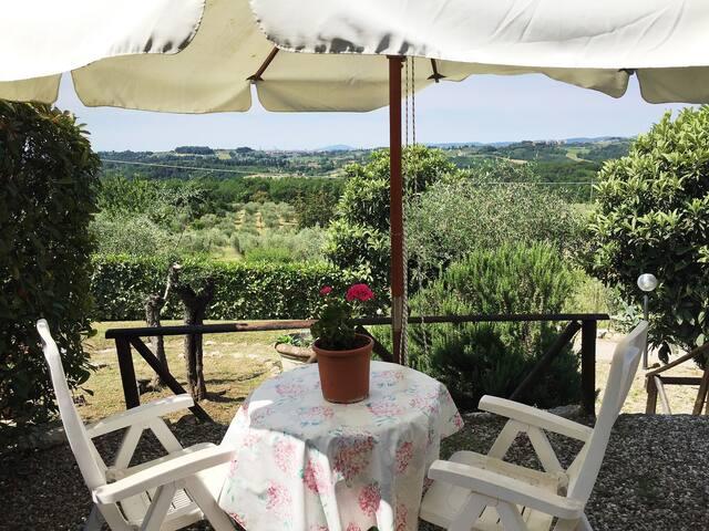Blu del Picchio: Home with swimming pool