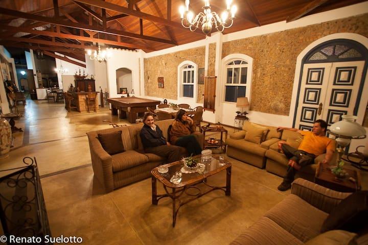 Chácara, casa colonial urbana no coração de Iguape - イグアペ - 一軒家