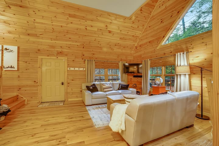 Private family-friendly home w/ game room, high-speed WiFi, & wraparound deck