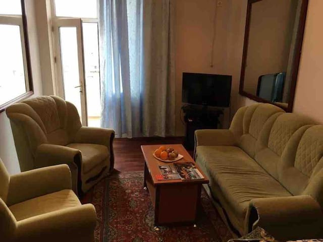 Living-room over  looking the Caspian Sea Гостинная с видом на Каспийское море