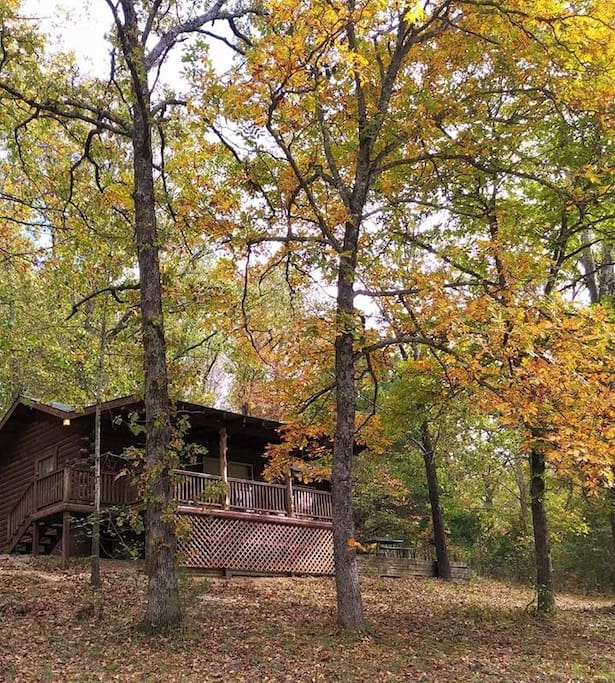 Your Private Cabin in the Ozark Mountains in the Fall