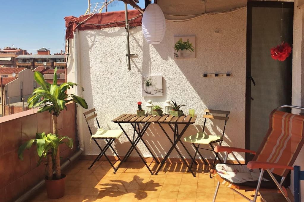 Our sunny balcony where you can have your breakfast ;)