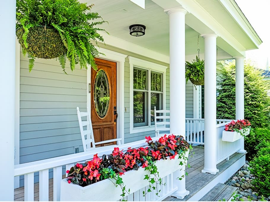 Front Porch with Rocking Chairs to Relax In