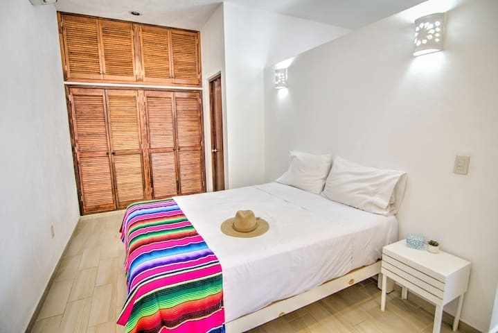 Bedroom with large closet.