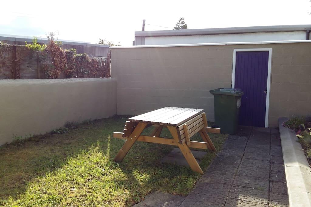 Private rear garden off kitchen