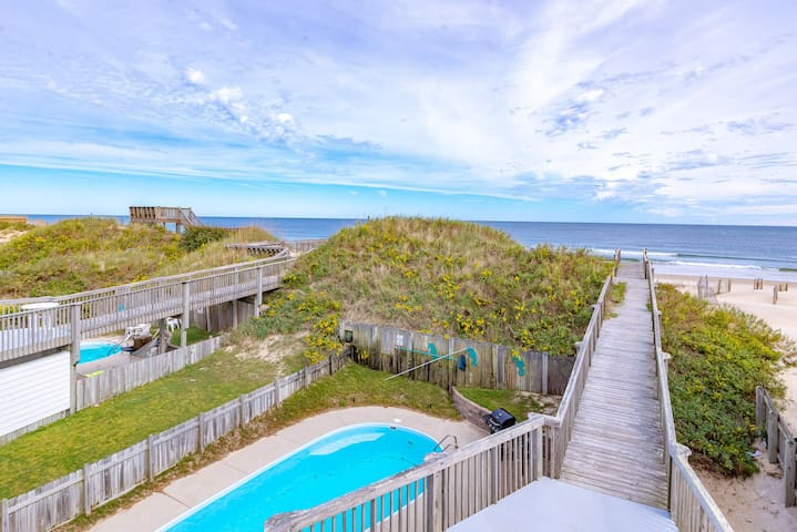 K1327 Paradise Found Between the Ocean & Sound: Elevator, Pool, Pet Friendly! | 8 Bedroom, 8 Bathroom