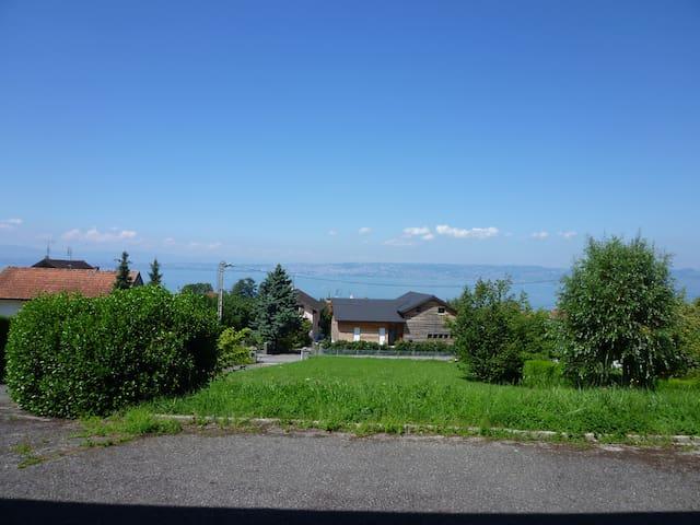 Rez de jardin au calme face au lac - Neuvecelle - Apartament