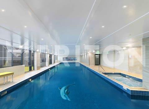 One bedroom unit Hotel style, pool Gym,spa carpark