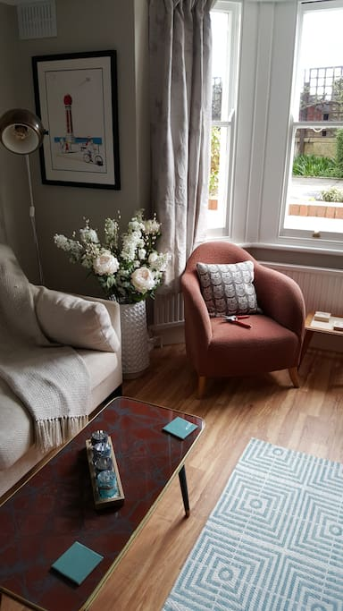 The perfect spot to read that book with a nice cuppa!