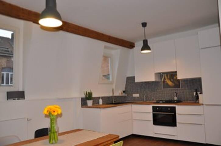 Trendy penthouse flat with terrace - Brussel·les - Pis