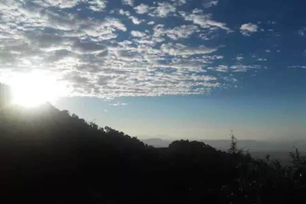 Morning sunrise east view