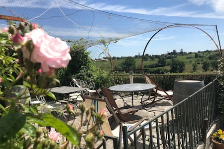 Rental with pool near Bordeaux on wine property