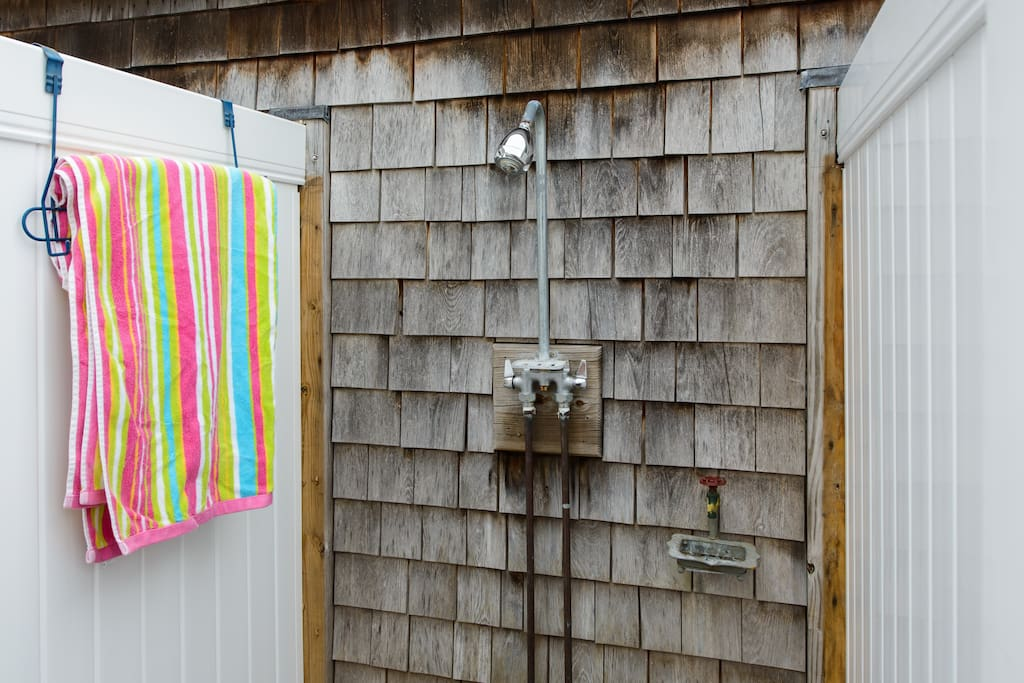 experience a cape cod outdoor shower