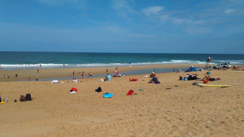 la plage de Tarnos
