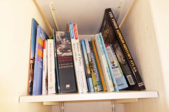 Books and leaflets about London and the locality for you to browse through