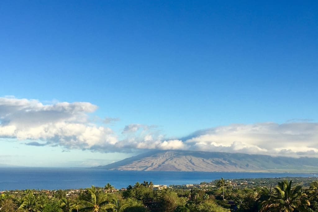 Unobstructed View Of West Maui Mountains From Secluded Third Floor Lanai With Moloka'i Slightly In View To Left