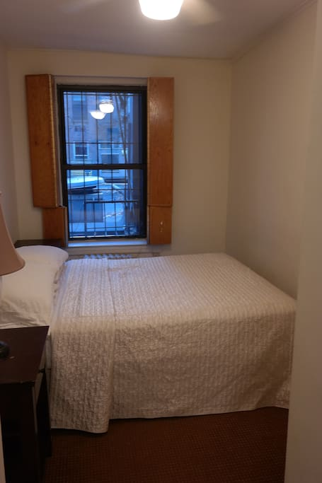 Here is the bedroom with a queen-size bed.  A dresser and 2 closets are also in this room.