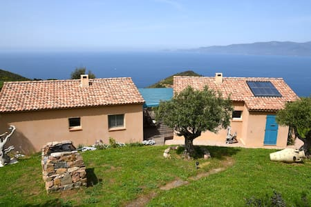 Gîte Ricciu écolo 3 épis vue mer - Calcatoggio