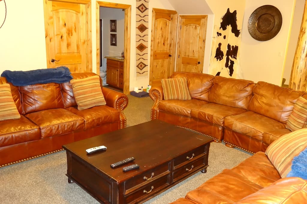 leather seating downstairs