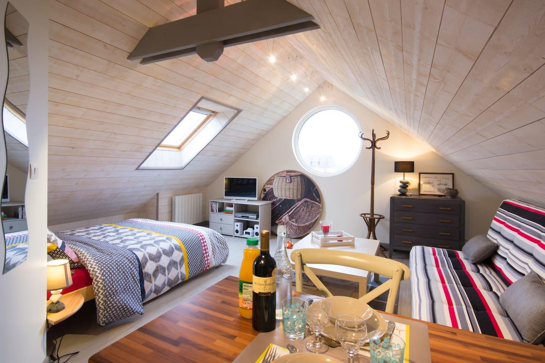 studio cosy pour 2 personnes, classé 2 étoiles par l'Office de Tourisme.