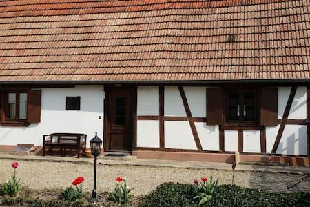 Petite maison alsacienne dans un village au calme