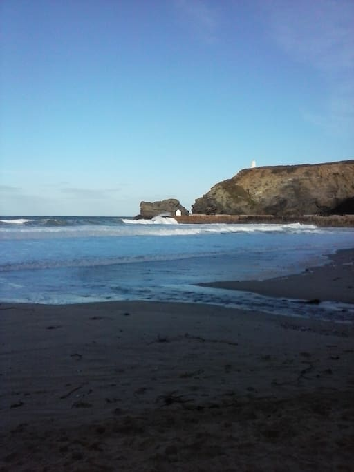 Portreath beach 1.5 miles from house