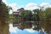 A summers day on the Cedar Creek