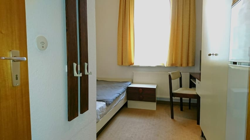 Ehemaliges Hotelzimmer.