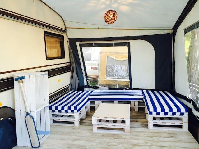 [2] Przyczepa na campingu Chałupy 5.5 - Wladyslawowo