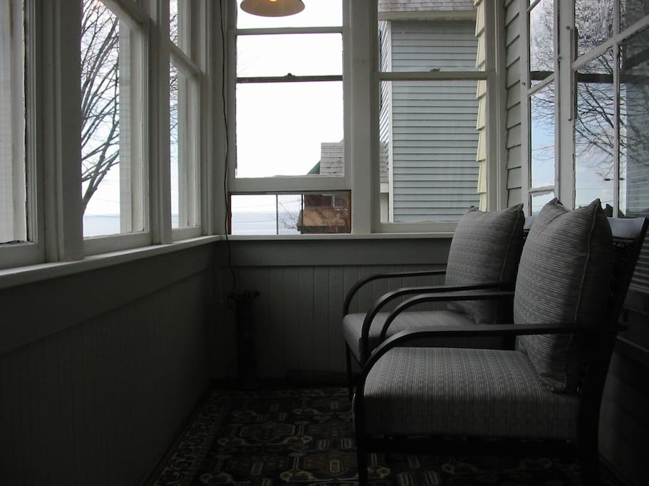 Front Porch with Lake Superior view
