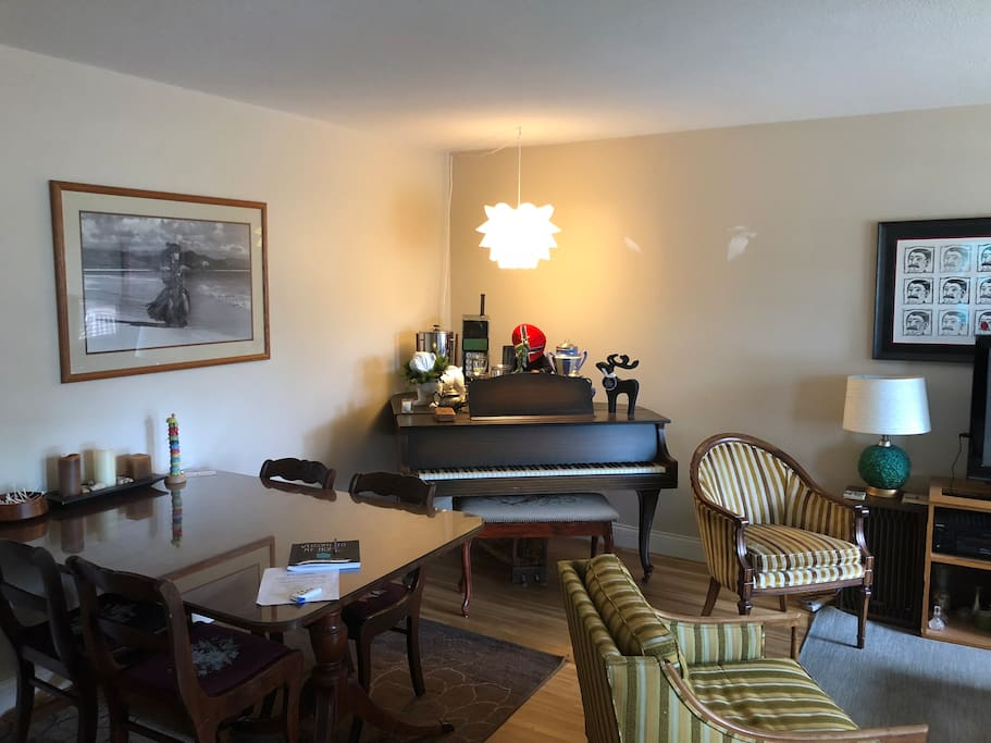 Dining area and Piano
