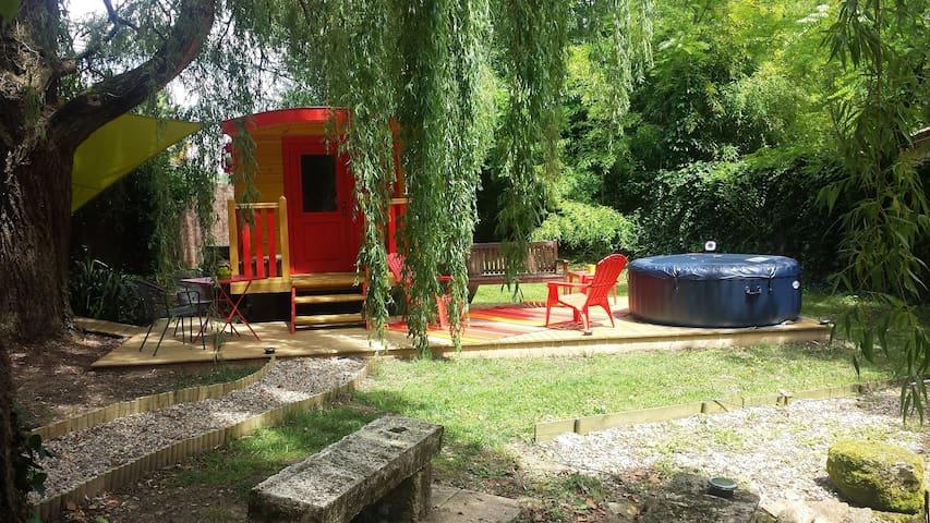 La roulotte de MARA, un vrai havre de paix - Fontet - Bungalow