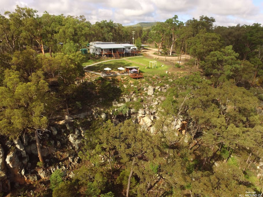 The property is hidden amongst the bush