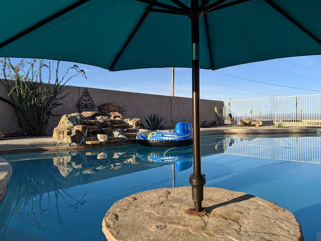 Lake Havasu City pool house with beautiful views