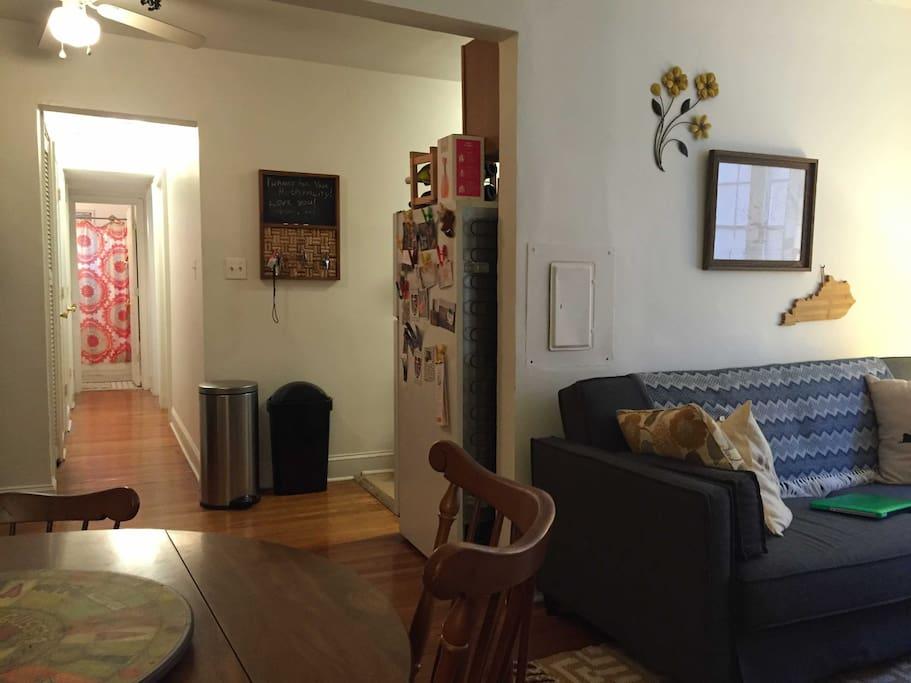 Hallway/Kitchen/Living Room