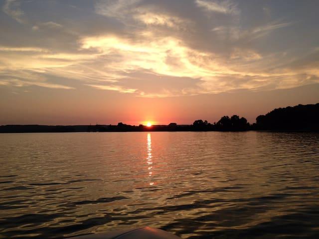 Sunset on Kentucky Lake.