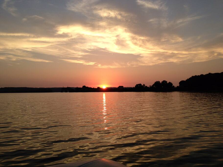 Sunset on Kentucky Lake.