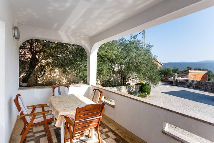 Marta 1- on ground floor with a spacious terrace